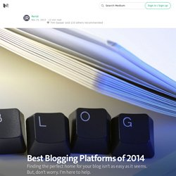 Best Blogging Platforms of 2014