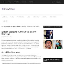 5 Best Blogs to Announce a New Start-up