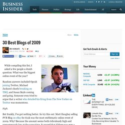 30 Best Blogs of 2009 - Flock