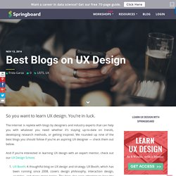 Best Blogs on UX Design - Springboard Blog