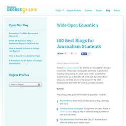 100 Best Blogs for Journalism Students - Learn-gasm