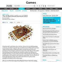 The 10 Best Board Games of 2013