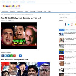 Top 10 Best Bollywood Comedy Movies List