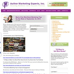 Best of the Web Book Marketing Tips for the Week of September 24, 2012