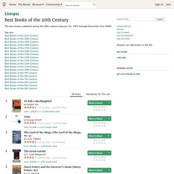 Best Books of the 20th Century (3844 books)