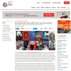 Best Books for Teens 2015!