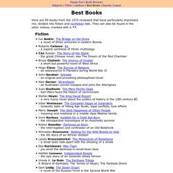 Best books: lists by Danny Yee