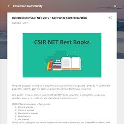 Best Books for CSIR NET 2019 – Key Part to Start Preparation