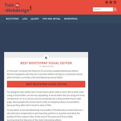 Best Bootstrap Visual Editor -