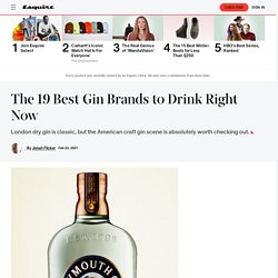 19 Best Gin Brands 2021 - Top Gin Bottles to Buy Right Now