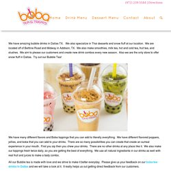 Best bubble tea and boba drinks in Dallas, TX