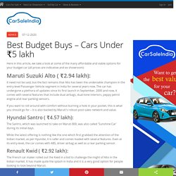 Best Budget Buys – Cars Under ₹5 lakh