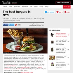 Best burgers in NYC: Hamburgers, veggie burgers and more