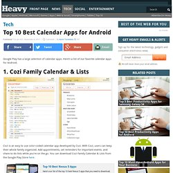 Top Best Calendar Apps for Android 2013