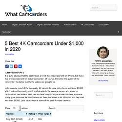 5 Best 4K Camcorders Under $1,000