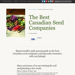 The Best Canadian Seed Companies