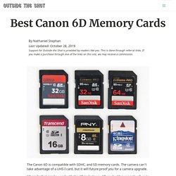Best Canon 6D Memory Cards