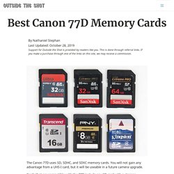 Best Canon 77D Memory Cards