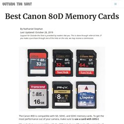 Best Canon 80D Memory Cards