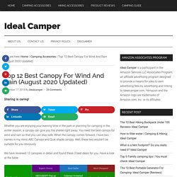 Top 12 Best Canopy For Wind And Rain (August 2020 Updated)