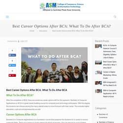 Best Career Options After BCA: What To Do After BCA? - CSIT Blog
