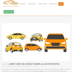 5 Best Cars you can Buy under 10 Lacs in Pakistan