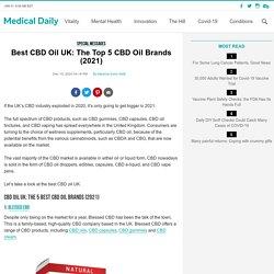 Best CBD Oil UK: The Top 5 CBD Oil Brands (2021)