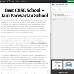 Best CBSE School – Iam Parevartan School