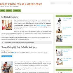 best rated high chairs