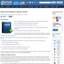 Best Free Children's eBooks Online