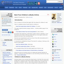 124 Sites For Free Children's Books Online