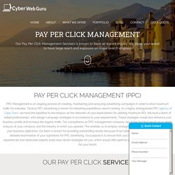 Best Pay Per Click (PPC) Services in Cape Town