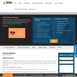 SAS Clinical Online Training With Live Projects