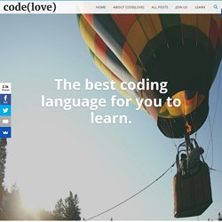 The Best Programming Language For You to Learn