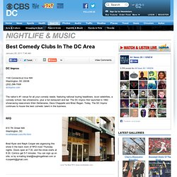 Best Comedy Clubs In The DC Area « CBS Washington