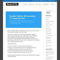 The Best CMS For SEO: A Comprehensive Checklist