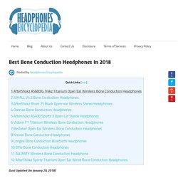 Best Bone Conduction Headphones In 2018