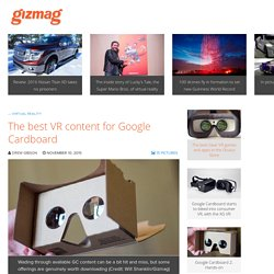 The best VR content for Google Cardboard