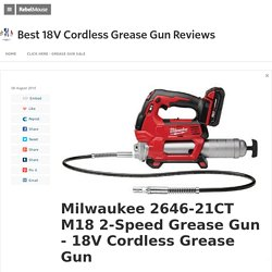 Best 18V Cordless Grease Gun Reviews