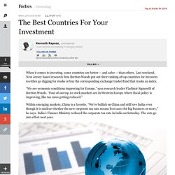 The Best Countries For Your Investment