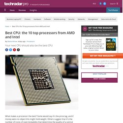 Best CPU: the 10 top processors from AMD and Intel
