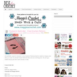 Footprint Bath Mat – Free Crochet Pattern