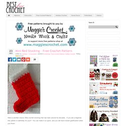 Mini Red Stocking – Free Crochet Pattern