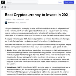 Best Cryptocurrency to invest in 2021 - DEV