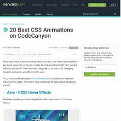 20 Best CSS Animations on CodeCanyon
