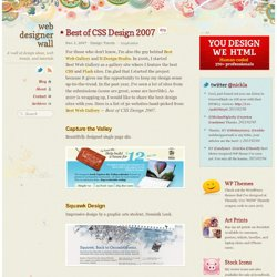Best of CSS Design 2007