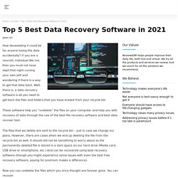 Top 5 Best Data Recovery Software in 2020