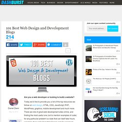 101 Best Web Design and Development Blogs