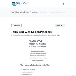 Top 5 Best Web Design Practices