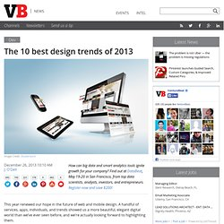 The 10 best design trends of 2013